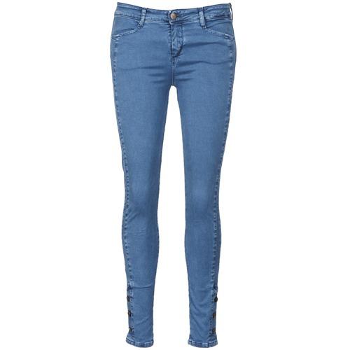 Clothing Women Slim jeans Acquaverde ALFIE Blue / Clear