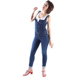 Clothing Women Jumpsuits / Dungarees Denny Rose 63DR12017 Jeans Women Blue Blue