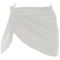 Clothing Women Cover ups Carla-bikini Basic White Sarong WHITE