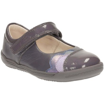 Flat shoes Clarks Softly Caz Girls Grey Leather First Shoes