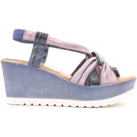 Shoes Women Sandals Grunland SA1016 Wedge sandals Women Blue Blue