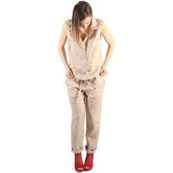 Clothing Women Jumpsuits / Dungarees Denny Rose 63DR22011 Tuta Women Beige