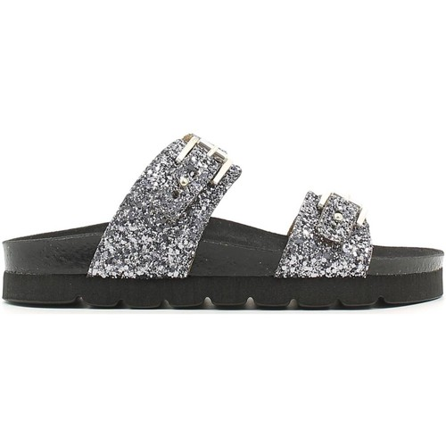 Shoes Women Mules Grunland CB0640 Sandals Women Antra-silver Antra-silver