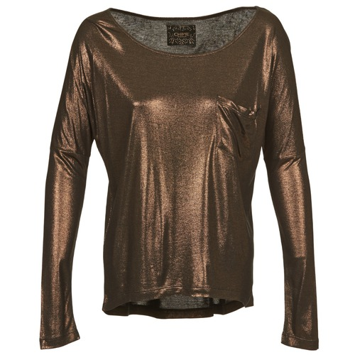 Clothing Women Long sleeved tee-shirts Chipie NINON Gold