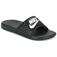 Shoes Women Mules Nike BENASSI JUST DO IT W Black / White