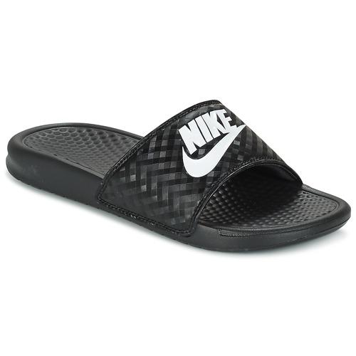 Shoes Women Tap-dancing Nike BENASSI JUST DO IT W Black / White