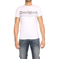 Clothing Men short-sleeved t-shirts Desigual - Men's T-shirts PEDRO blanc