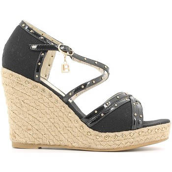 Shoes Women Sandals Laura Biagiotti 814 Wedge sandals Women Nero