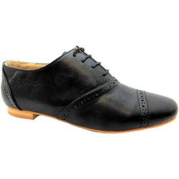 Brogues Ruby Rocks Monty women's formal black lace up oxford toe brogue style shoe