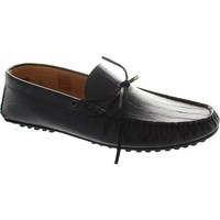 Shoes Men Loafers Hudson felipe men's black mock crocodile slip on stitched driving mocc Black