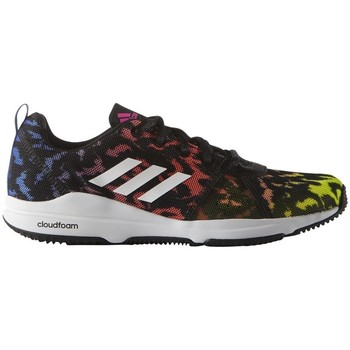 Shoes Women Fitness / Training adidas Originals Arianna Cloudfoam Black-White-Yellow