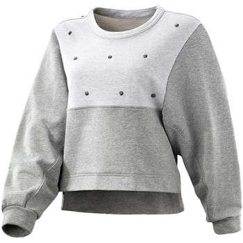 Clothing Women jumpers adidas Originals ES Stud Sweater Grey