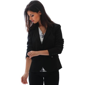Clothing Women Jackets / Blazers Nero Giardini P668211D Blazer Women Black Black