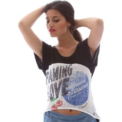 Clothing Women short-sleeved t-shirts Fornarina BER5J03JF7100 T-shirt Women Nero