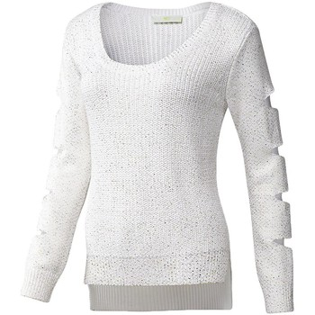 Clothing Women jumpers adidas Originals Knit Sweater White