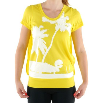 Clothing Women short-sleeved t-shirts adidas Originals SW CU Ssl Yellow