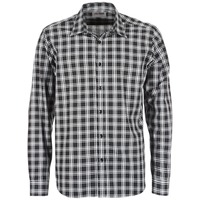 Clothing Men Long-sleeved shirts Yurban FLENOTE Black / White