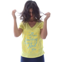 Clothing Women short-sleeved t-shirts Key Up S23I 0001 T-shirt Women Yellow Yellow