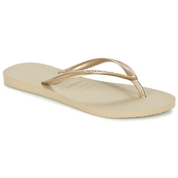 Shoes Women Flip flops Havaianas SLIM Sand Grey / Light Golden