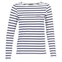 Clothing Women Tops / Blouses Betty London FLIGEME White / Blue