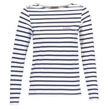 Clothing Women Long sleeved tee-shirts Betty London IFLIGEME White / Blue