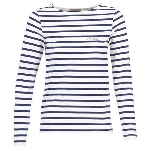 Clothing Women Long sleeved tee-shirts Betty London FLIGEME White / Blue