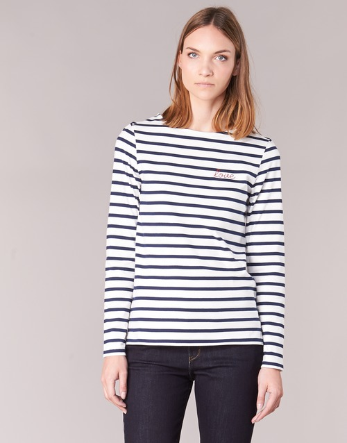 Clothing Women Long sleeved tee-shirts Betty London FLIGEME White / Blue