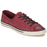 Shoes Women Low top trainers Converse ALL STAR FANCY LEATHER OX Bordeaux