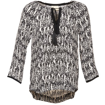 Clothing Women Tops / Blouses Stella Forest BTU010 ECRU / Black