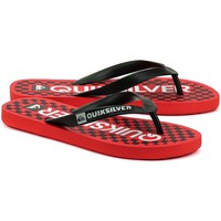 Shoes Men Flip flops Quiksilver Java Wordmark Black-Red
