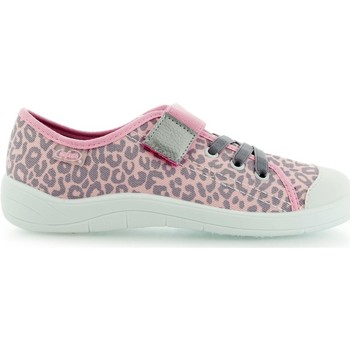 Shoes Girl Low top trainers Befado Panterka Grey-Pink