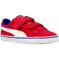 Shoes Boy Low top trainers Puma 1948 Vulc V Pink-White