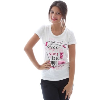 Clothing Women short-sleeved t-shirts Key Up S19I 0001 T-shirt Women White White