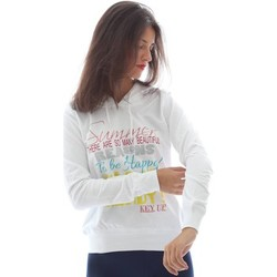 Clothing Women Jackets / Cardigans Key Up F55G 0001 Sweatshirt Women Bianco Bianco