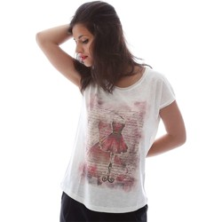 Clothing Women short-sleeved t-shirts Key Up S07G T-shirt Women White White