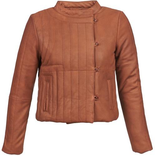 Clothing Women Leather jackets / Imitation leather Antik Batik YOANN Cognac