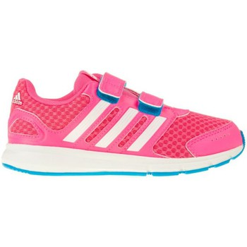 Shoes Girl Low top trainers adidas Originals Sport CF K White-Pink