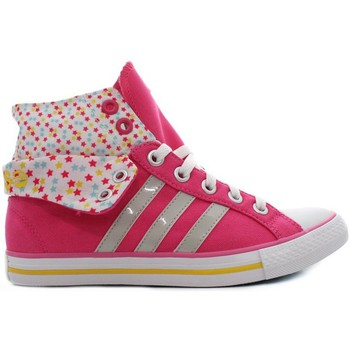 Shoes Girl Hi top trainers adidas Originals Bbneo 3 Stripes Pink