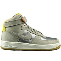 Shoes Men Hi top trainers Nike Air Force 1 07 High Premium Silver-Beige