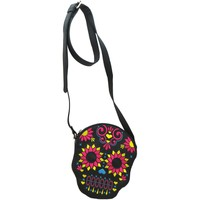 Bags Women Shoulder bags Loungefly Neon Skull Crossbody Women's black flower shoulder handbag new Black