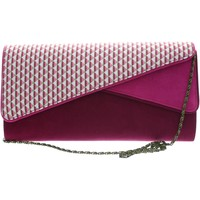 Bags Women Evening clutches Ruby Shoo Sydney womens pink enpe clutch bag with detachable metal strap Pink