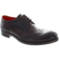 Shoes Men Derby Shoes Base london conisten men's Washed lace up leather wingtip brogues ne Washed Brown