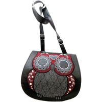 Bags Women Shoulder bags Loungefly Tweed Owl women's black cross body shoulder handbag new Black