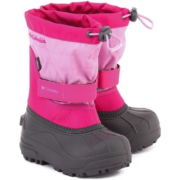Shoes Children Snow boots Columbia Powderbug Plus II Pink