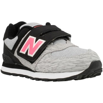 Shoes Girl Low top trainers New Balance KV574 Black-Grey-Pink