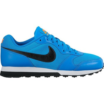 Shoes Boy Low top trainers Nike MD Runner 2 GS Black-Blue