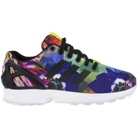 Shoes Women Low top trainers adidas Originals ZX Flux Floral Torsion City Blue