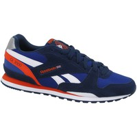 Shoes Boy Low top trainers Reebok Sport GL 3000 White-Orange-Navy blue