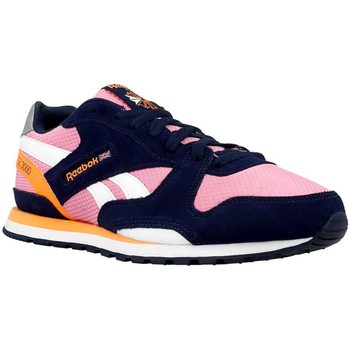 Shoes Girl Low top trainers Reebok Sport GL 3000 Pink-Navy blue