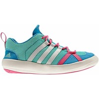 Shoes Girl Low top trainers adidas Originals Boat Lace K Blue-Green